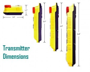 Alpha500 Series Transmitter Dimensions